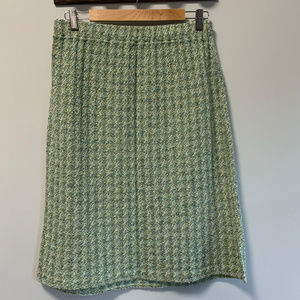 ST. JOHN Collection Novelty Knit Tweed Skirt